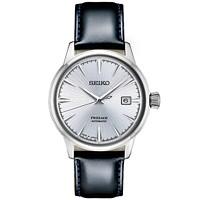 Macys deals on Seiko Men's Automatic Presage Black Leather Strap Watch