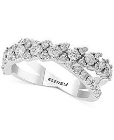 EFFY® Diamond Crisscross Ring (1-1/4 ct. t.w.) Ring in 14k White Gold