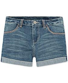 Thick Stitch Shorty Shorts, Big Girls