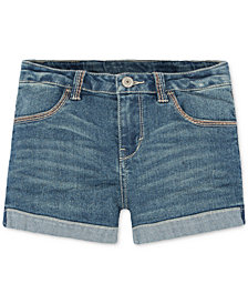 Levi's® Thick Stitch Shorty Shorts, Big Girls