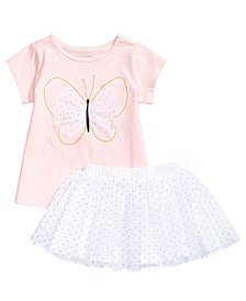 First Impressions Butterfly Tunic & Tutu Skirt Separates, Baby Girls, Created for Macy's