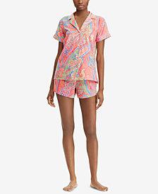 Lauren Ralph Lauren Classic Wovens Paisley-Print Pajama Set