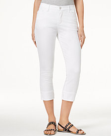 Lee Platinum Petite Cropped Cuffed Stretch Jeans
