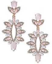 I.N.C. Rose Gold-Tone Pavé & Colored Stone Statement Earrings, Created for Macy's