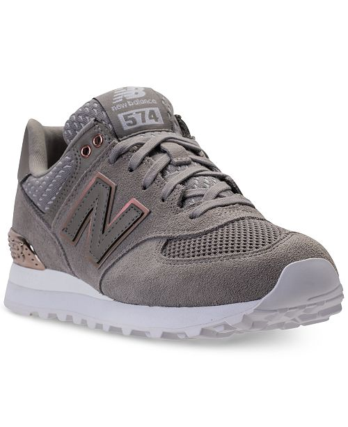 574 Finish Casual Sneakers Rose Gold New Balance From Women's ZuOPkXi