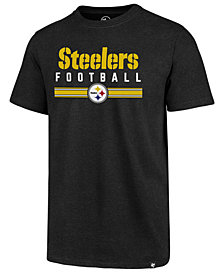 '47 Brand Men's Pittsburgh Steelers Cover 4 T-Shirt