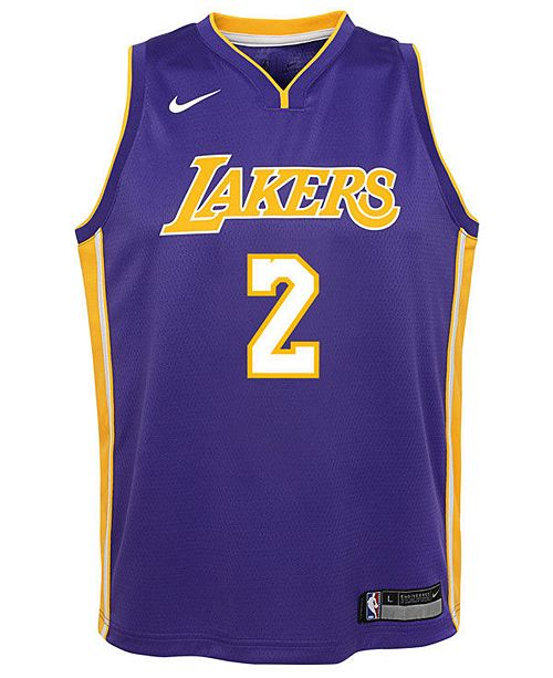 117f4d6aa2d Nike Lonzo Ball Los Angeles Lakers Statement Swingman Jersey, Big Boys  (8-20 ...