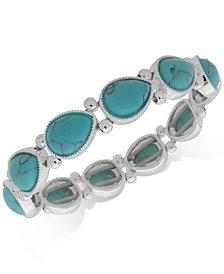 Nine West Colored Stone Stretch Bracelet