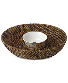 Lenox Butterfly Meadow Rattan Chip & Dip With Bowl