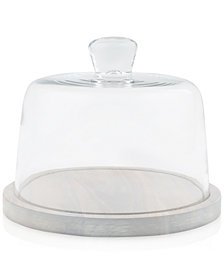 CLOSEOUT! Thirstystone Wood & Glass Cheese Dome Set