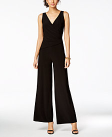 Nine West Surplice Stretch Jumpsuit
