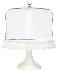 CLOSEOUT! Martha Stewart  Collection Facet Cake Stand With Dome, Created for Macy's