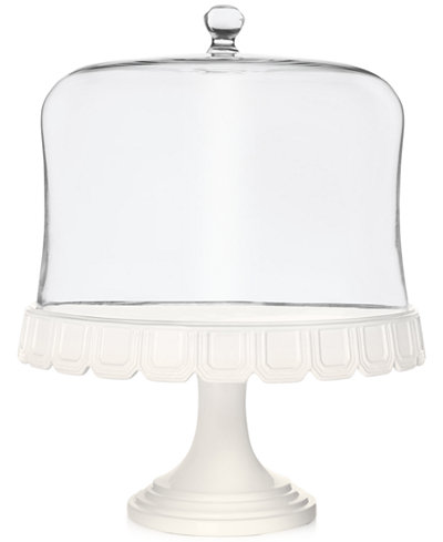 Martha Stewart Collection Facet Cake Stand With Dome, Created for Macy's