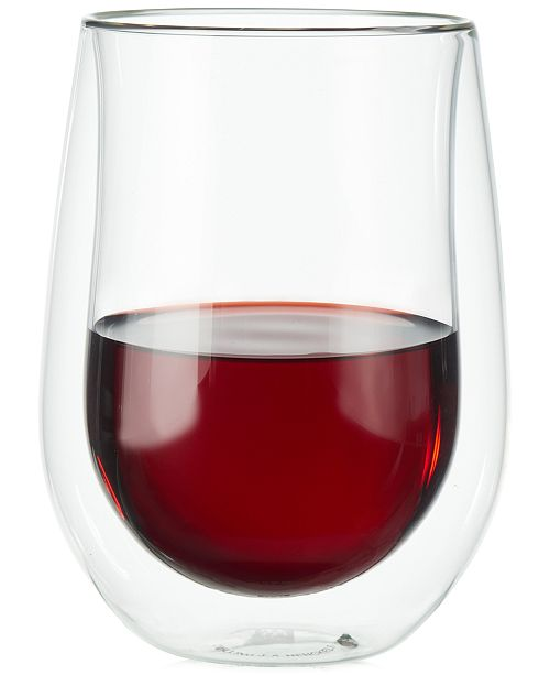 02cc12556db Double Walled Wine Glasses Stemless - Glass Decorating Ideas