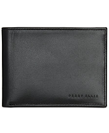 Perry Ellis Men's Find Me Leather Bifold Wallet