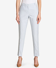 Tommy Hilfiger Cotton Slim-Leg Ankle Pants