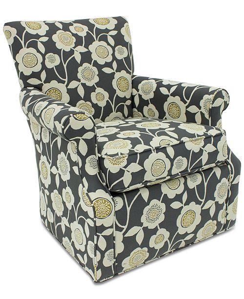 Furniture Corilee Fabric Swivel Chair