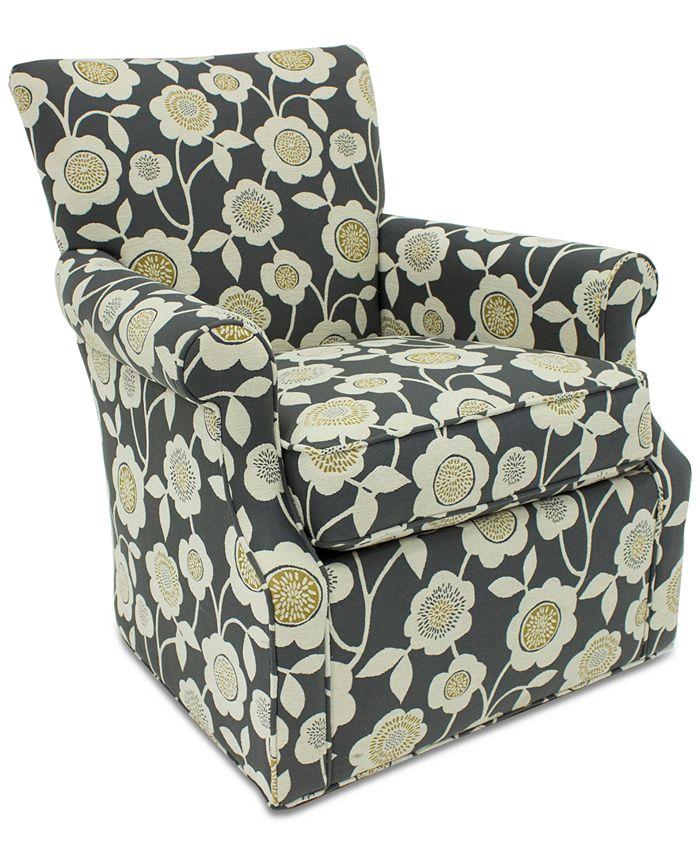Furniture - Corilee Fabric Swivel Chair