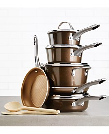 Ayesha Curry Home Collection 12-Pc. Porcelain Enamel Non-Stick Cookware Set