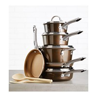 Ayesha Curry 12-Pc. Porcelain Enamel Non-Stick Cookware Set