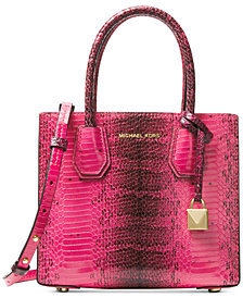 MICHAEL Michael Kors Mercer Medium Snakeskin Crossbody