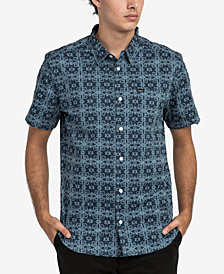 RVCA Men's Vision Geo-Print Pocket Shirt