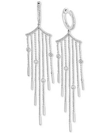 EFFY® Diamond Bezel Fringe Drop Earrings (1/3  ct. t.w.) in 14k White Gold