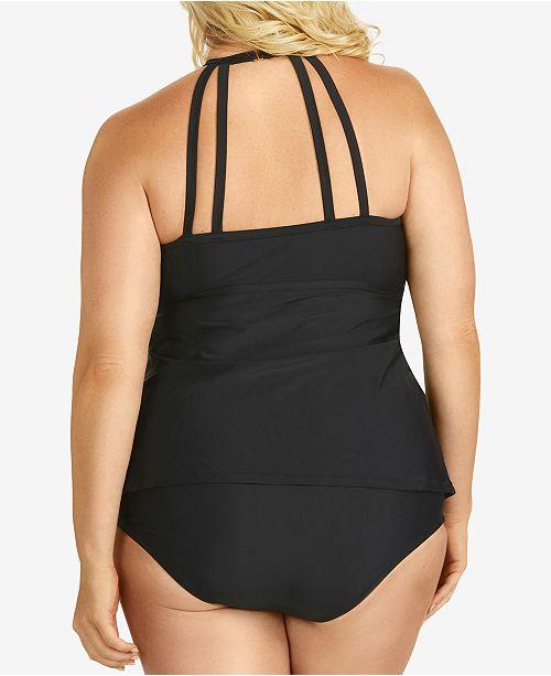 4484e8229f Raisins Curve Rosalie High-Neck Tankini Top & High-Waist Bikini Bottoms ...