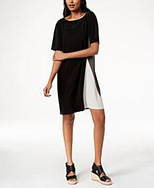 Eileen Fisher Silk Colorblocked Dress, Regular & Petite