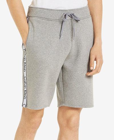 Calvin Klein Men's Knit Drawstring Shorts with Logo Taping