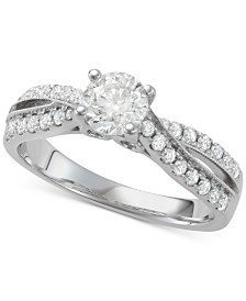 Diamond Twist Engagement Ring (1-1/7 ct. t.w.) in 14k White Gold