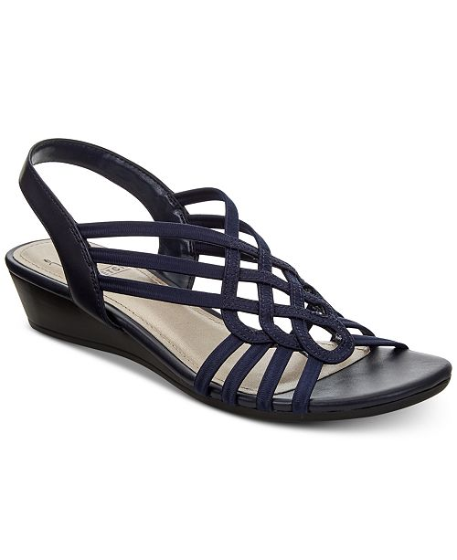 aba608e16 Impo Roma Stretch Slingback Wedge Sandals   Reviews - Sandals   Flip ...
