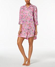 Lauren Ralph Lauren Classic Wovens Paisley-Print Sleepshirt