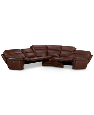 Furniture Myars 5 Pc Quot L Quot Shaped Leather Sectional Sofa