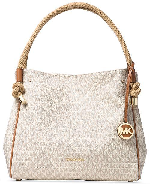 56893d4c05f2b Michael Kors Isla Large Signature Satchel   Reviews - Handbags ...