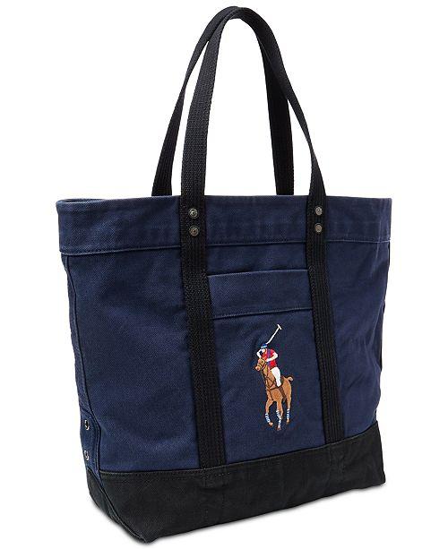 Polo Ralph Lauren Men s Canvas Big Pony Tote Bag   Reviews - All ... 216d2d83801b2
