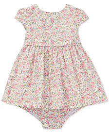Ralph Lauren Floral-Print Cotton Dress, Baby Girls