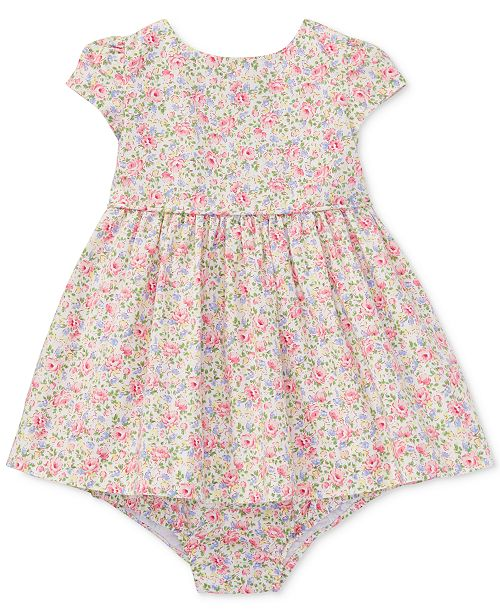9da282cc9 Polo Ralph Lauren Ralph Lauren Floral-Print Cotton Dress, Baby Girls ...