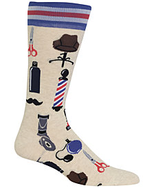 Hot Sox Barbershop Crew Socks