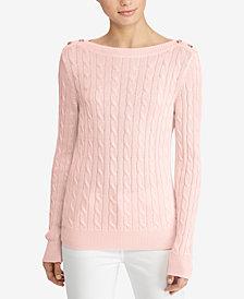 Lauren Ralph Lauren Petite Cable-Knit Sweater