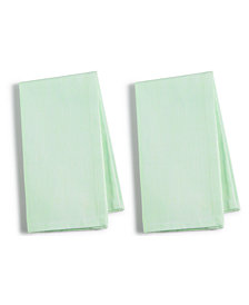 CLOSEOUT! Martha Stewart Collection 2-Pc. Green Cotton Napkin Set, Created for Macy's