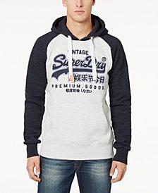 Superdry Men's Premium Goods Logo-Print Raglan-Sleeve Hoodie