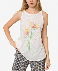 O'Neill Juniors' Paradise Flower Graphic Tank Top