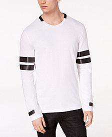 I.N.C. Men's Jay Striped-Sleeve T-Shirt, Created for Macy's