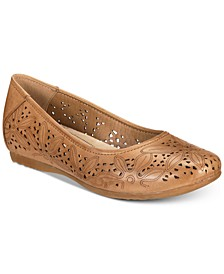 Mariah Perforated Memory Foam Hidden Wedge Flats