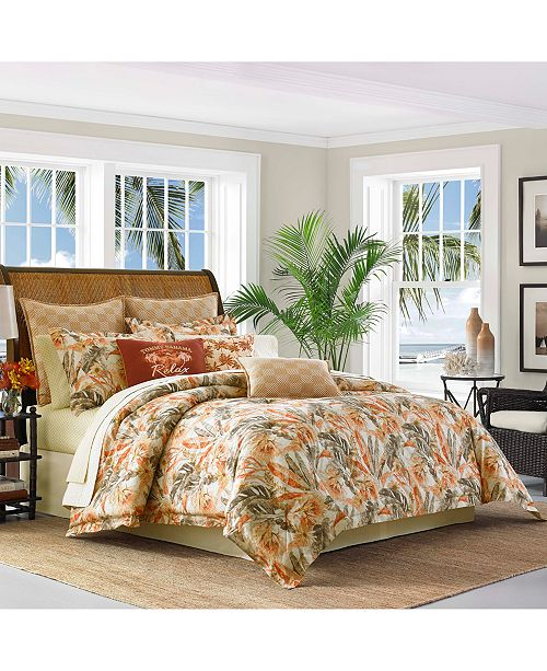 Create A Relaxing Atmosphere Inspired By Tropical Locales With The Ri Bedding Collection From Tommy Bahama Home Featuring Palm Leaf And Fl Print