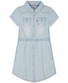 Levi's® Cotton Denim Western Dress, Little Girls