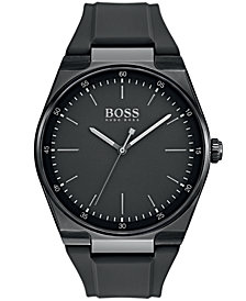 BOSS Hugo Boss Men's Magnitude Black Rubber Strap Watch 42mm