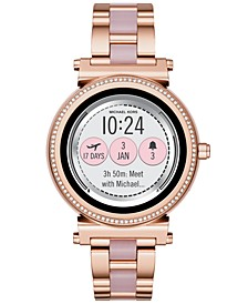 Access Women's Sofie Rose Gold-Tone Stainless Steel & Blush Acetate Bracelet Touchscreen Smart Watch 42mm