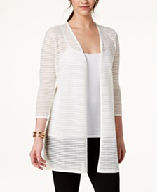 Alfani Illusion-Stripe Cardigan, Created for Macy's